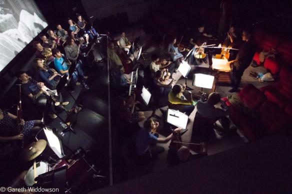 Rep Orchestra in rehearsal